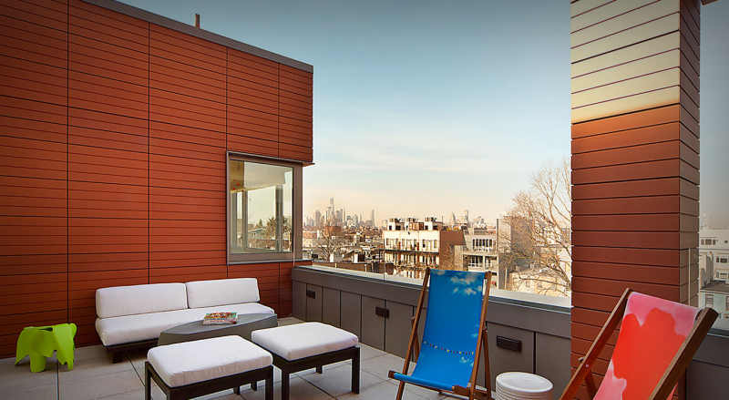 Private terrace at 202 8th street- condo for rent in Brooklyn