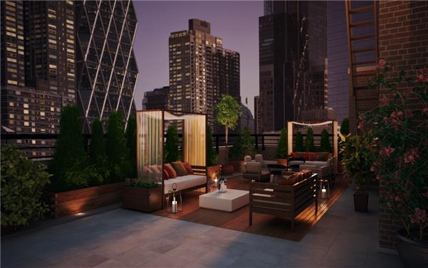 Luxurious Rooftop Deck of 426 West 52nd Street