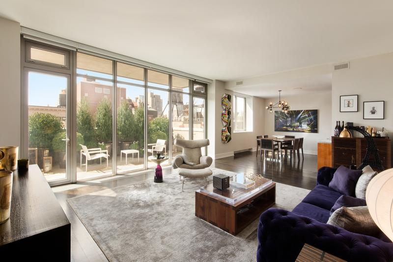 Living Room- 124 West 23rd Street- condo for rent in Chelsea