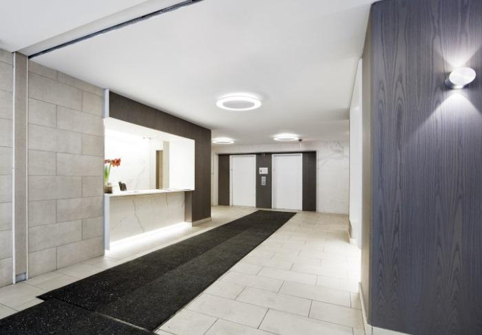 The Building's Lobby at The Centra in NYC - Apartments for rent