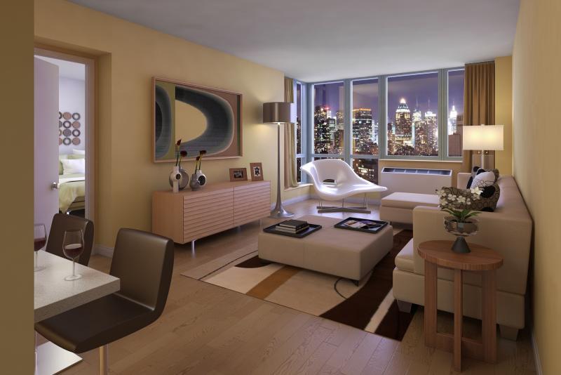 Livingroom at 601 West 57th Street in Manhattan