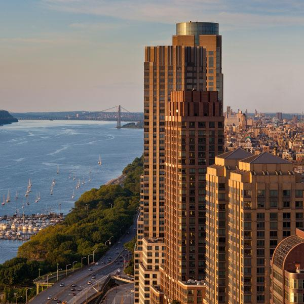 View from 60 Riverside Boulevard - Luxury Apartments for Rent