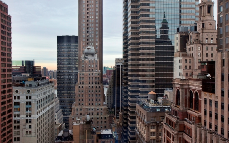 View from 20 Pine Street - Luxury Apartments for Rent