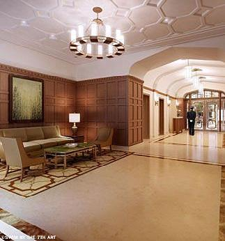 The Building's lobby at West End Hall in Manhattan