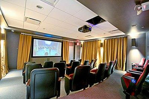 Truffles Tribeca rental building Screening Room - NYC Flats