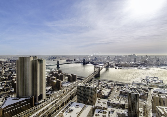 View from downtown Manhattan, overlooking Brooklyn