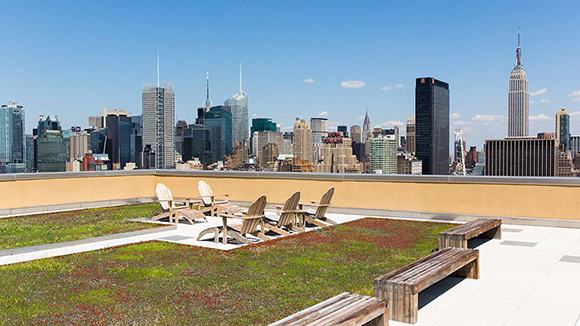 Rooftop terrace at The Ohm luxury real estate next to The High Line