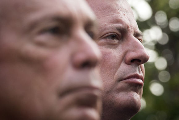 De Blasio and Bloomberg