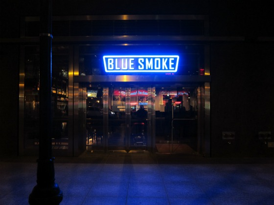Blue Smoke in Manhattan's Battery Park City