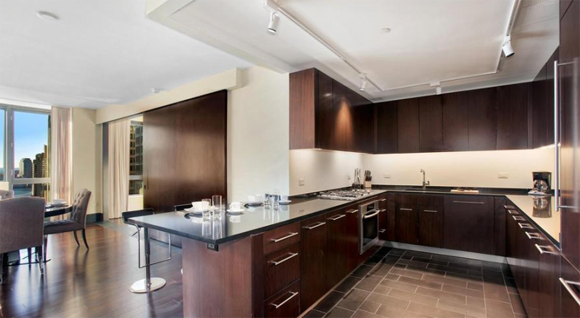 The Setai luxury apartments feature beautifully designed gourmet kitchens with open layouts.