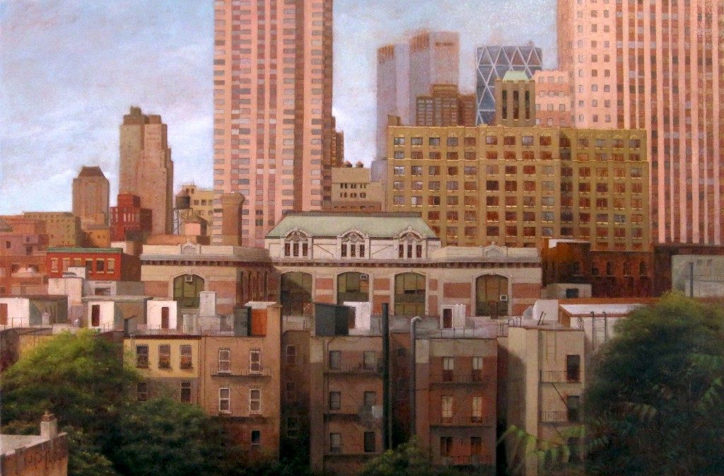 Painting of Hell's Kitchen in New York City