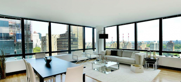 View from the living room at an apartment in Two Sutton Place North in the Upper East Side