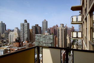 View of the Upper East Side from a luxury apartment balcony